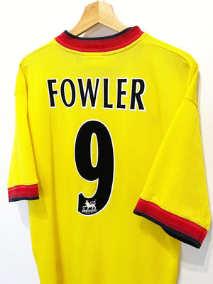 Cult Football 1997/99 FOWLER #9 Liverpool Vintage Reebok Away Football Shirt Jersey (L)