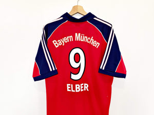 Cult Football 1999/01 ELBER #9 Bayern Munich Vintage adidas Football Shirt (L) Brazil