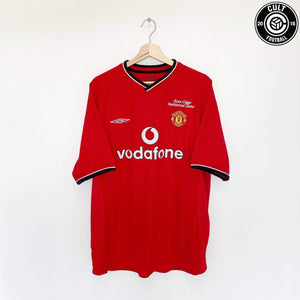 Cult Football 2001 Ryan GIGGS #11 Manchester United Vintage Umbro (XL) Testimonial Shirt
