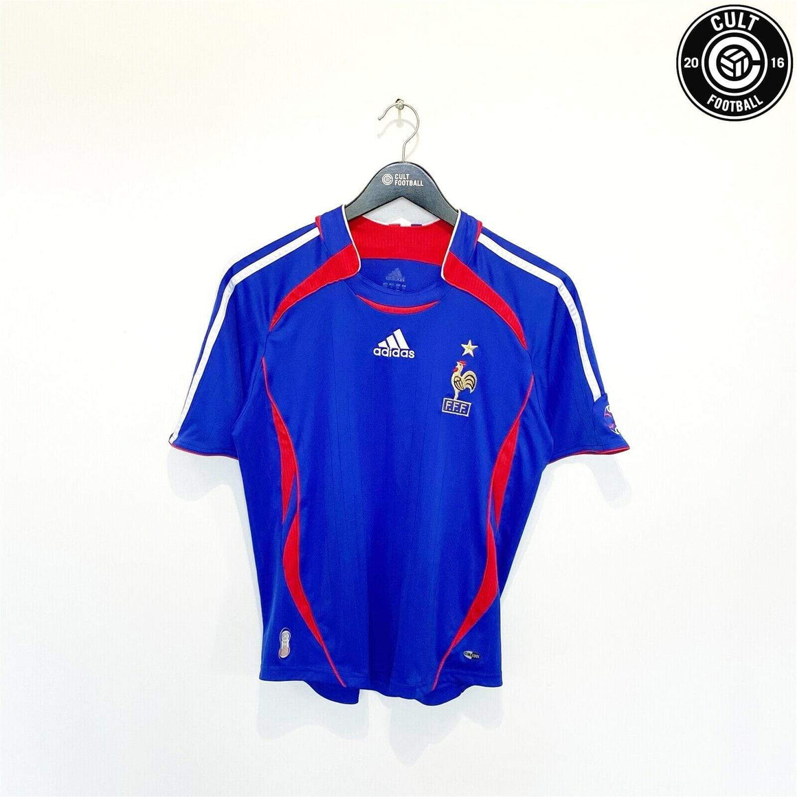 Cult Football 2006/08 FRANCE Vintage adidas Home Football Shirt Jersey (32/34) Youth