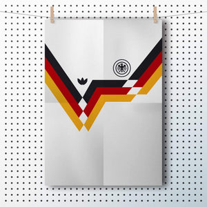 1990 Germany football shirt A3 poster - Football Shirt Collective