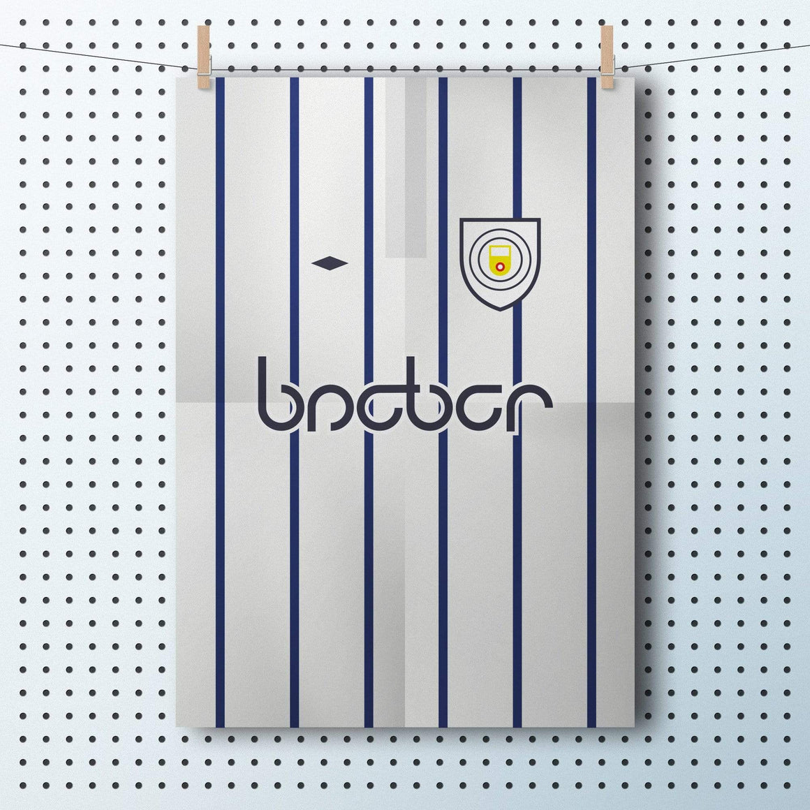 1994 Manchester City football shirt A3 poster - Football Shirt Collective