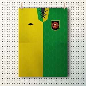 Daryl Higgins Newton Heath Manchester United shirt A3 poster