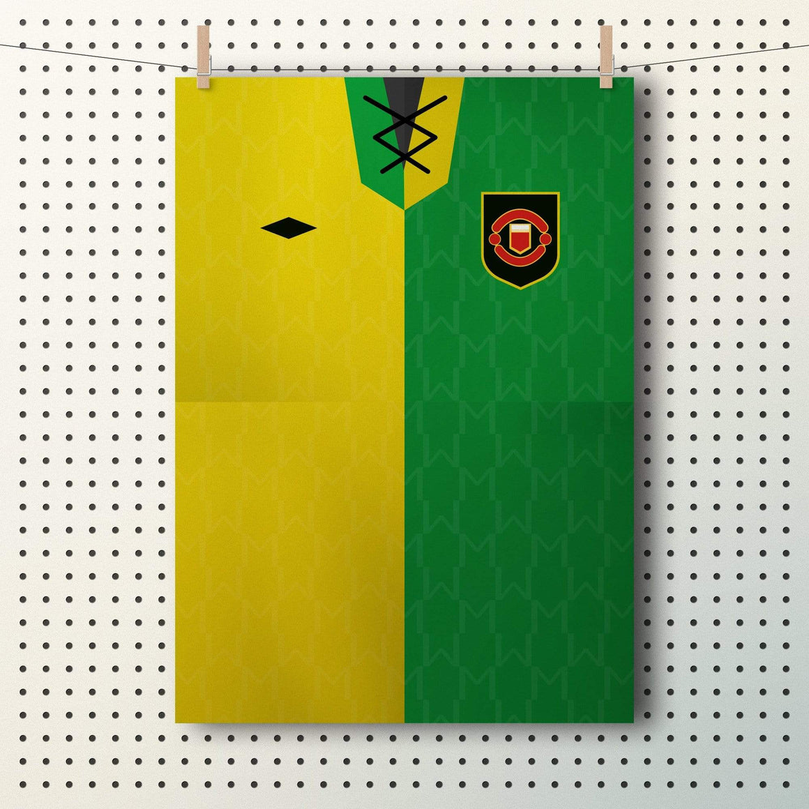 Newton Heath Manchester United shirt A3 poster - Football Shirt Collective