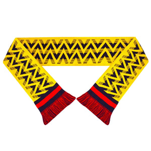 Fans Favourite Arsenal Retro Football Scarf 1991-93 Bruised Banana