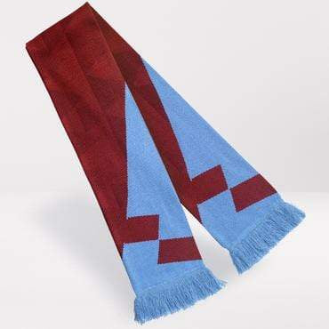 Fans Favourite Aston Villa Retro Football Scarf 1990-92 Home Shirt