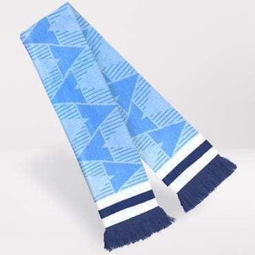 Fans Favourite Manchester City Retro Football Scarf 1989-91 Home Shirt