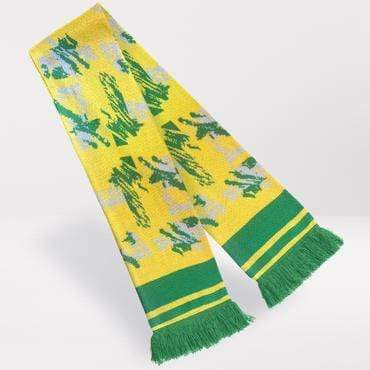 Fans Favourite Norwich City Retro Football Scarf 1992-94 Home Shirt