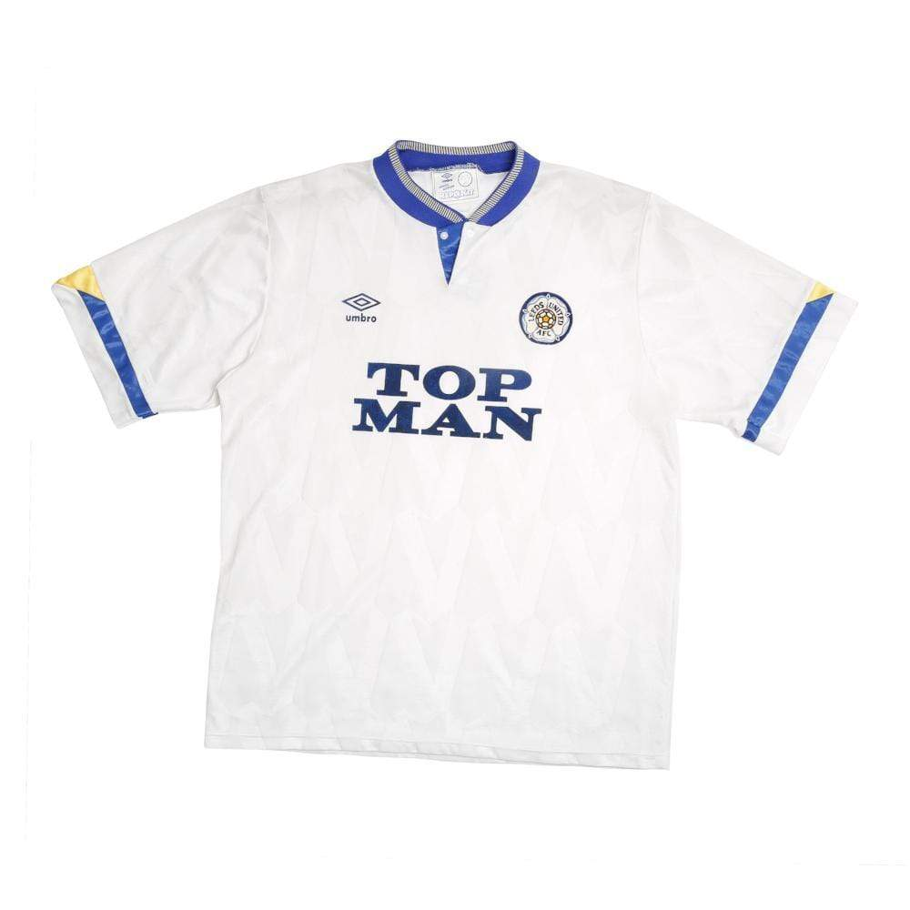 1990-91 Leeds United home shirt L (Very good) - Football Shirt Collective