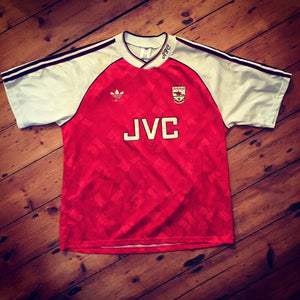 1990-92 Arsenal Home Shirt L (Excellent) - Football Shirt Collective