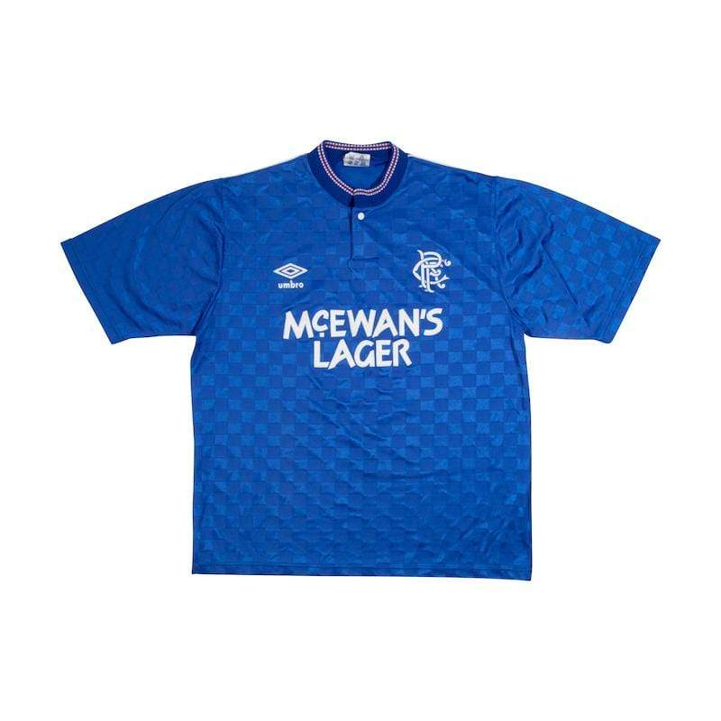 Football Shirt Collective 1990-92 Glasgow Rangers Home Shirt (L) Excellent