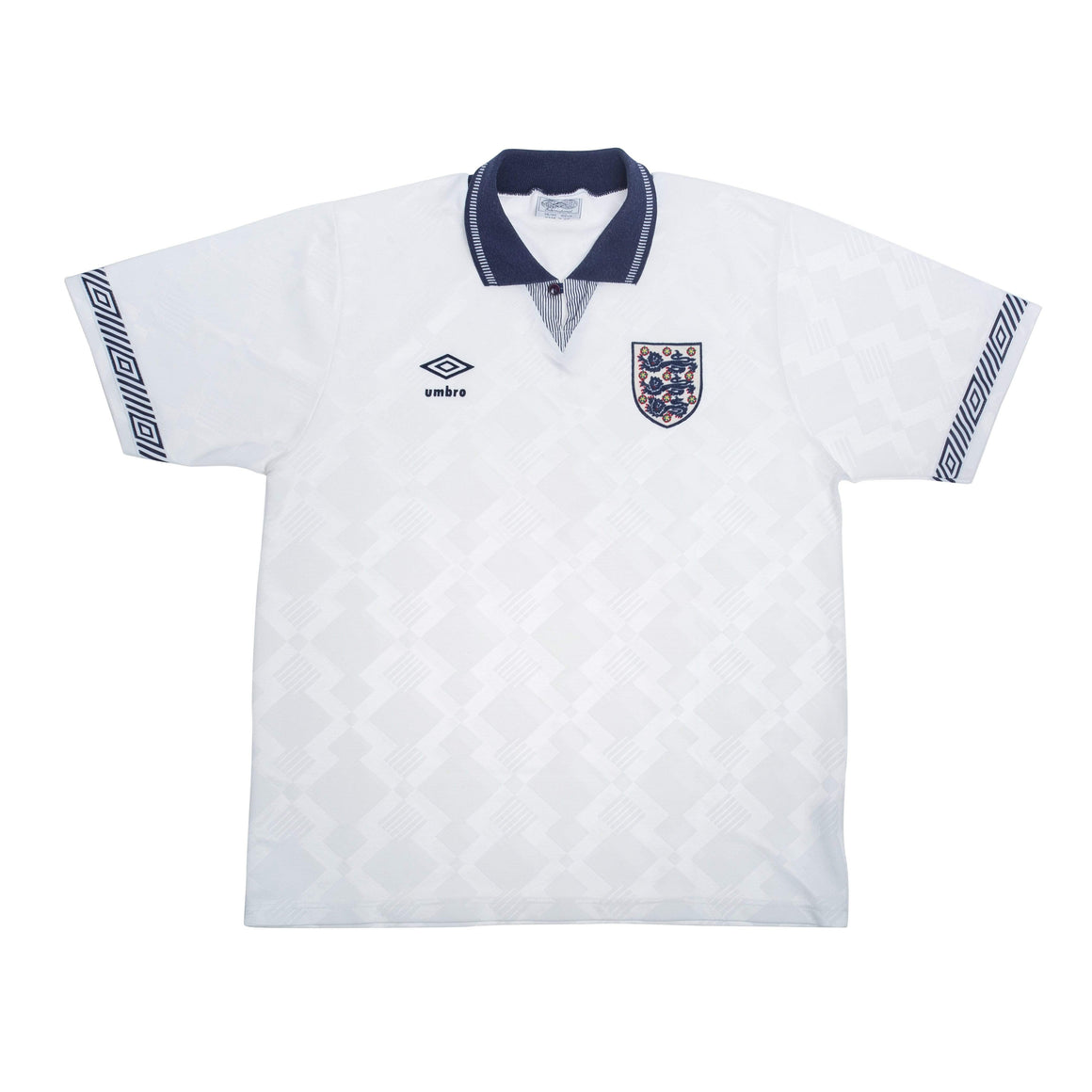 1990 England Home Football Shirt M Excellent - Football Shirt Collective