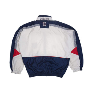 1990 England x Umbro Track Top (Excellent) - Football Shirt Collective