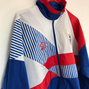 1990 Ipswich Town track jack L Excellent - Football Shirt Collective
