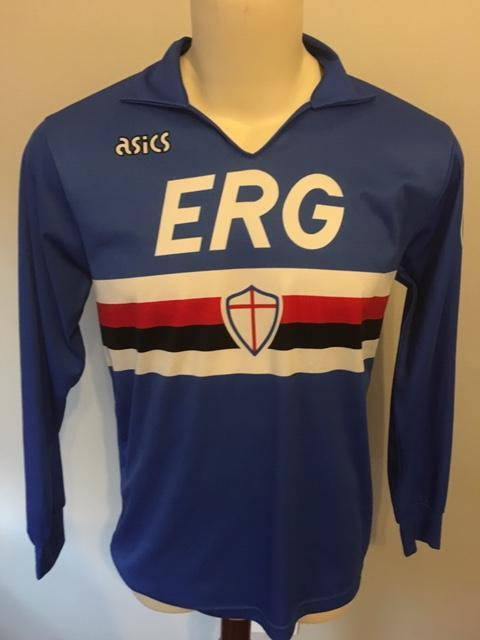 1991-92 Sampdoria Home Long Sleeve Shirt L - Football Shirt Collective