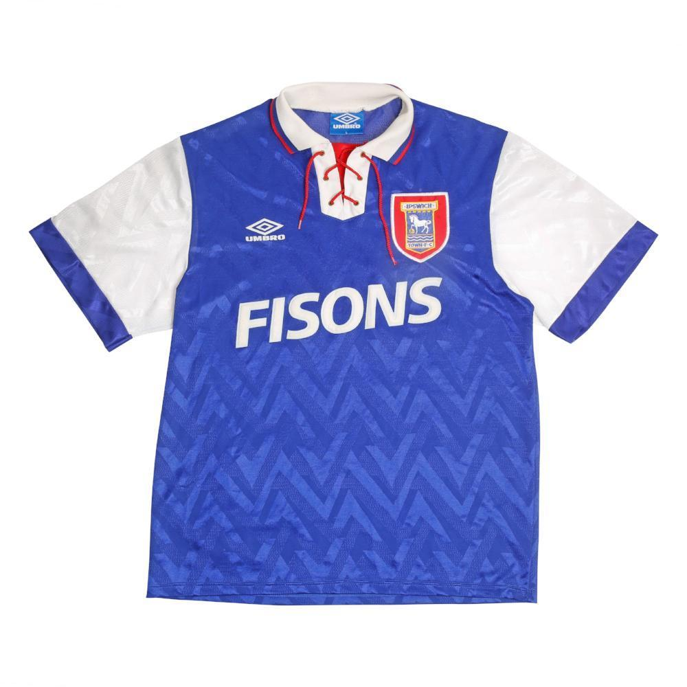 Football Shirt Collective 1992-94 Ipswich Town home shirt L Excellent
