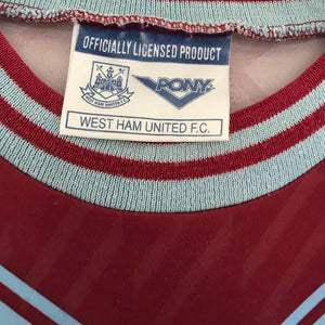 1993-95 West Ham Home Shirt L - Football Shirt Collective