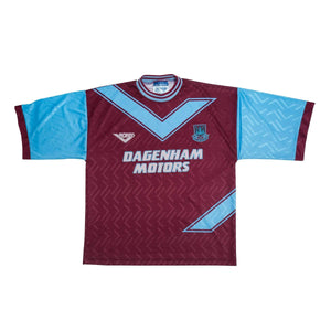 1993-95 West Ham Home Shirt M Excellent - Football Shirt Collective