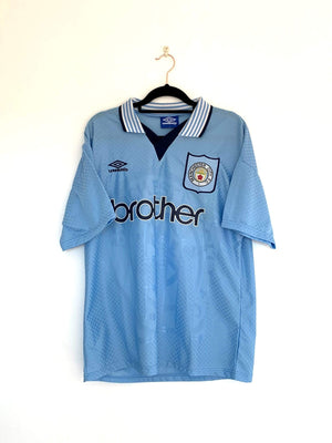 1994-95 Manchester City Home Shirt L (Excellent) - Football Shirt Collective