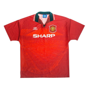 1994-95 Manchester United Home Shirt M Very Good - Football Shirt Collective