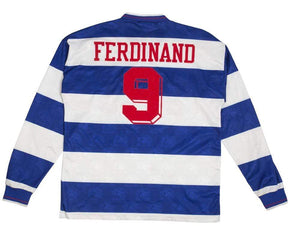 1994-95 QPR Home L/S Shirt Ferdinand #9 (Excellent) XL - Football Shirt Collective