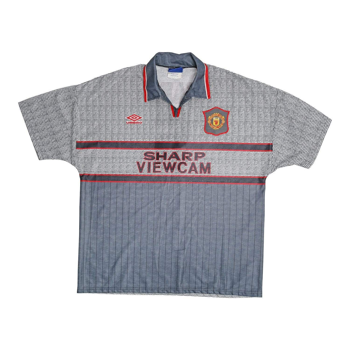 1995-96 Manchester United Away Football Shirt SHARPE #5 (XXL) Mint - Football Shirt Collective