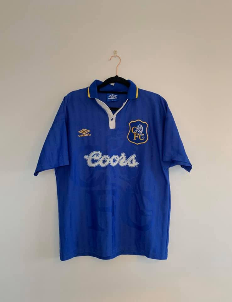 1995-97 Chelsea home shirt (Very good) L - Football Shirt Collective
