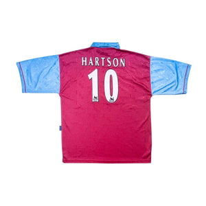 1995-97 West Ham Home Shirt XL Hartson #10 Excellent - Football Shirt Collective