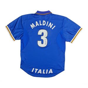 1996-97 Italy Shirt XL Maldini 3 Excellent - Football Shirt Collective