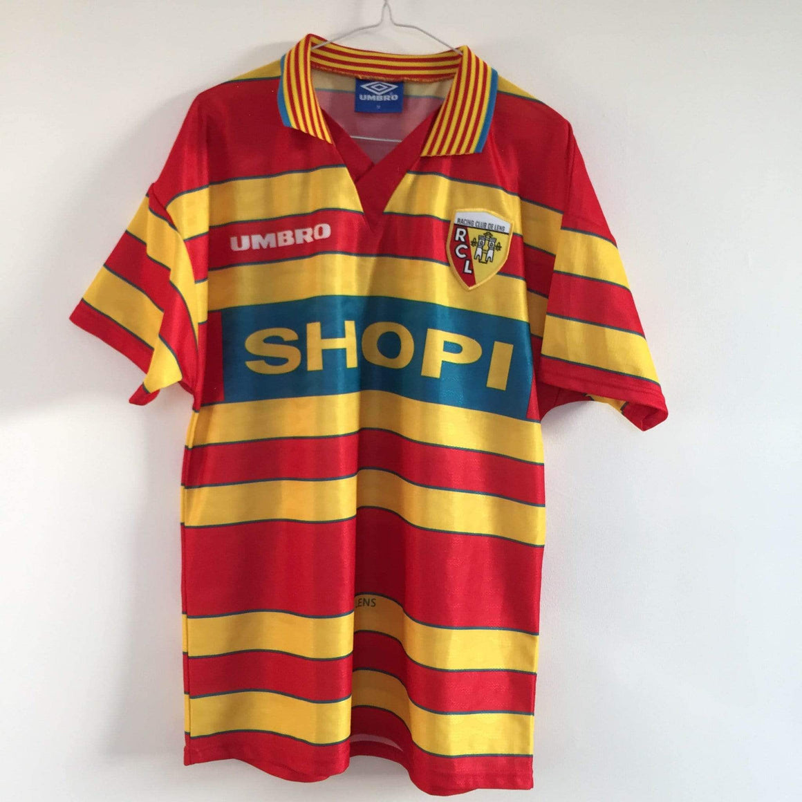 1996-97 Racing Club de Lens Home Shirt M - Football Shirt Collective