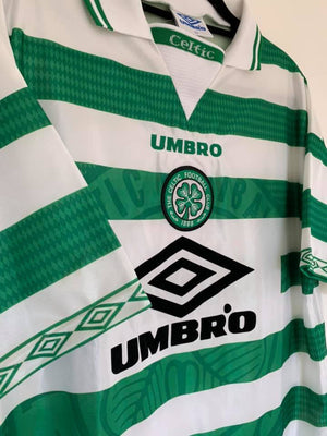 1997-99 Celtic Home Shirt XL (Excellent) - Football Shirt Collective