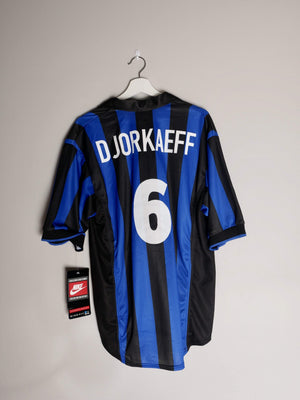 Football Shirt Collective 1998-00 Inter Milan home shirt #6 Djorkaeff L BNWT