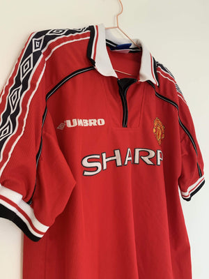 1998-00 Manchester United Home Shirt L Excellent - Football Shirt Collective