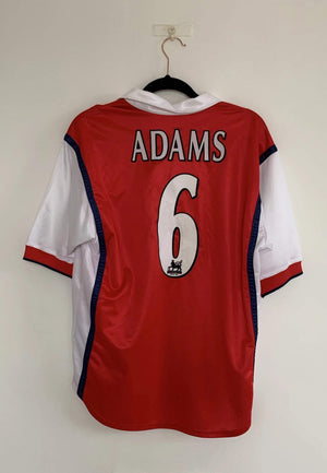 1998-99 Arsenal Home Shirt M Adams 6 (Mint) - Football Shirt Collective