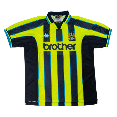 1998-99 Manchester City Away Football Shirt XXL (Excellent) - Football Shirt Collective
