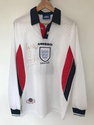 1998 England Football Shirt World Cup 98 L/S L #2 (Excellent) - Football Shirt Collective