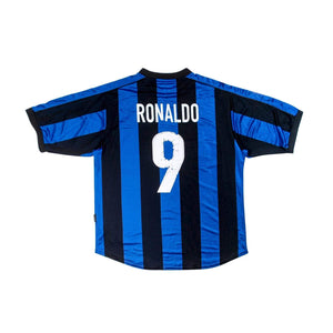 Football Shirt Collective 1999-00 Inter Milan home shirt #9 RONALDO XL Very Good