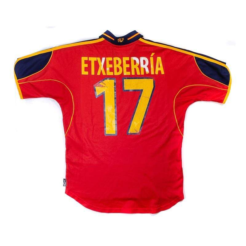 1999-02 Spain Home Shirt Etxeberria #17 (Very Good) XL - Football Shirt Collective