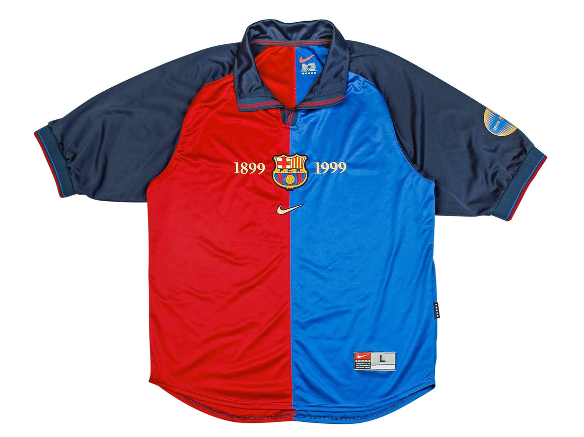 1999-2000 Barcelona home shirt L Excellent - Football Shirt Collective