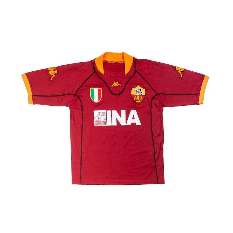 Football Shirt Collective 2001-02 Roma Home Shirt (Very Good) L
