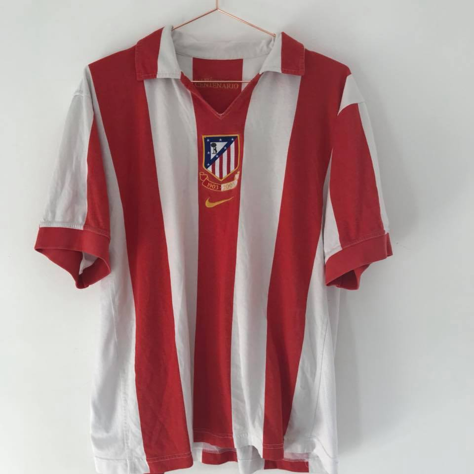 Football Shirt Collective 2003-04 Atletico Madrid Centenary Home Shirt