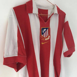 2003-04 Atletico Madrid Centenary Home Shirt - Football Shirt Collective