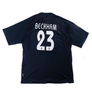 2003-04 Real Madrid away football shirt Beckham #23 XXL (Excellent) - Football Shirt Collective