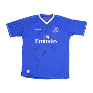 2003-05 Chelsea Home Football Shirt L Excellent (signed) - Football Shirt Collective