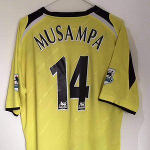 2005-06 Manchester City Away Shirt L Musampa #14 - Football Shirt Collective