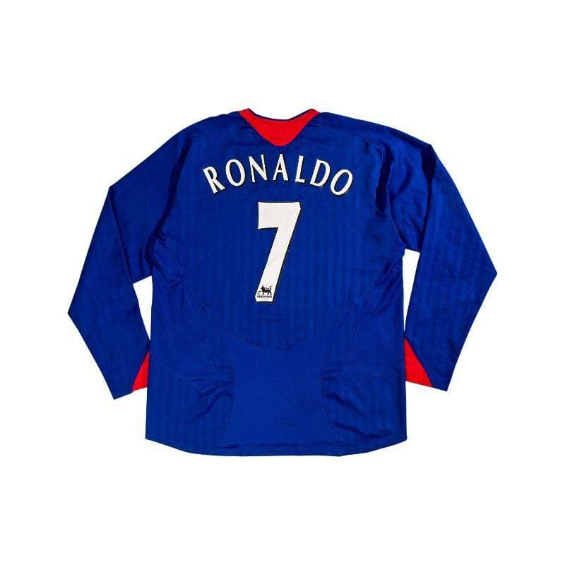 Football Shirt Collective 2005-06 Manchester United Away L/S Shirt Ronaldo #7 (Excellent) L