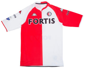 2007-08 Feyenoord shirt #8 Van Bronckhorst Very Good XL - Football Shirt Collective