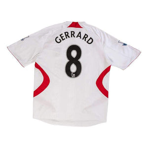 Football Shirt Collective 2007-08 Liverpool away football shirt L Gerrard 8 (Very Good)