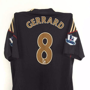2009-10 Liverpool Away Shirt Gerrard #8 M (Premier League badges) - Football Shirt Collective