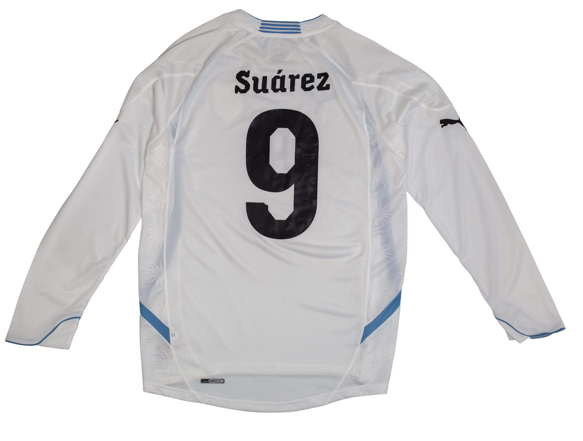 2014-15 Uruguay away shirt L/S M Suarez #9 - Football Shirt Collective